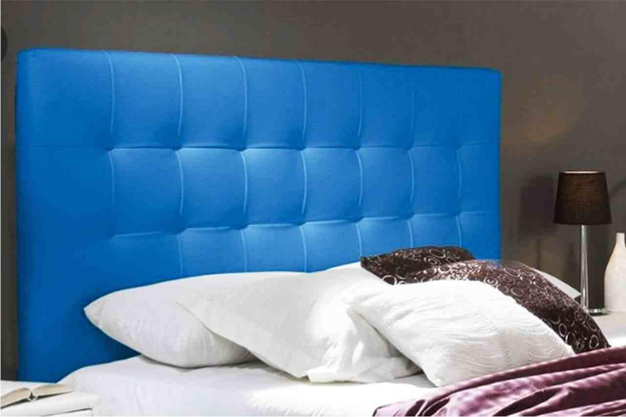 cabecero cama azul eléctrico