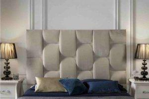 cabecero cama simil piel diseño moderno