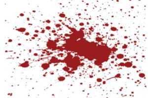 Manchas de sangre en colchón